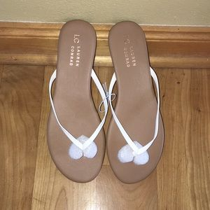 LC Lauren Conrad white flip flop 9M